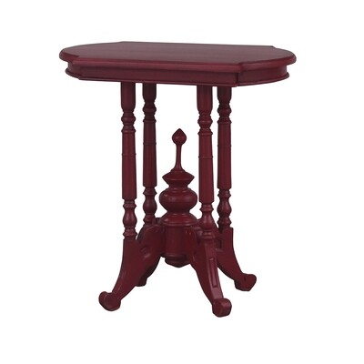 Astragal Heavy Distressed Deep Red Wine Table