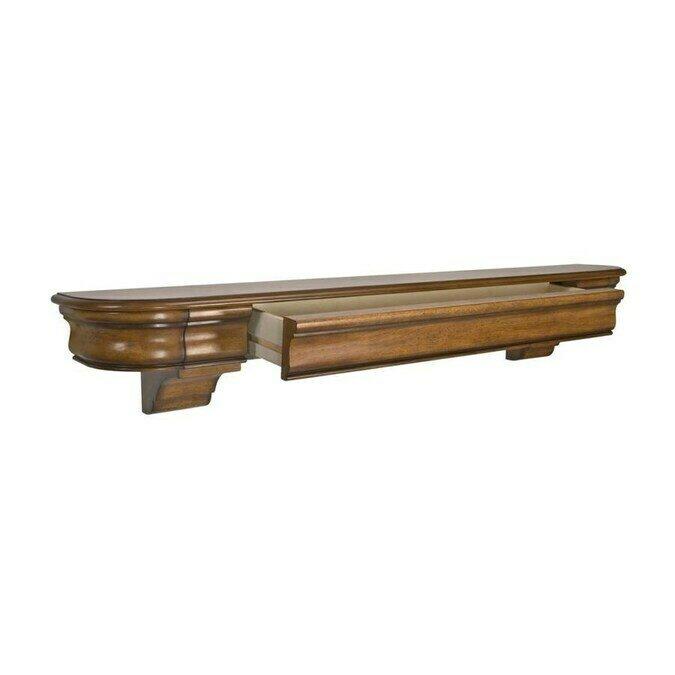 Abingdon Med Oak Distressed Mantel Shelf