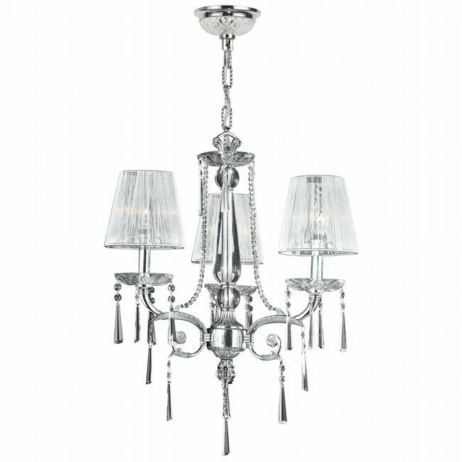Orleans Chrome 3Lt Chandelier