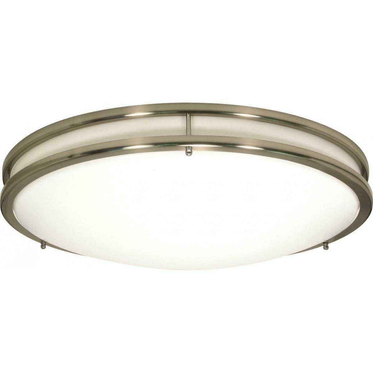 Brushed Nickel 3 Lt Glamour Round