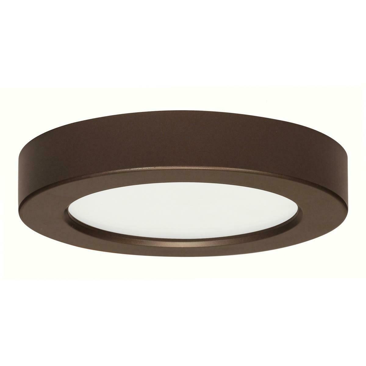 Bronze Round LED Flushmount Fixture