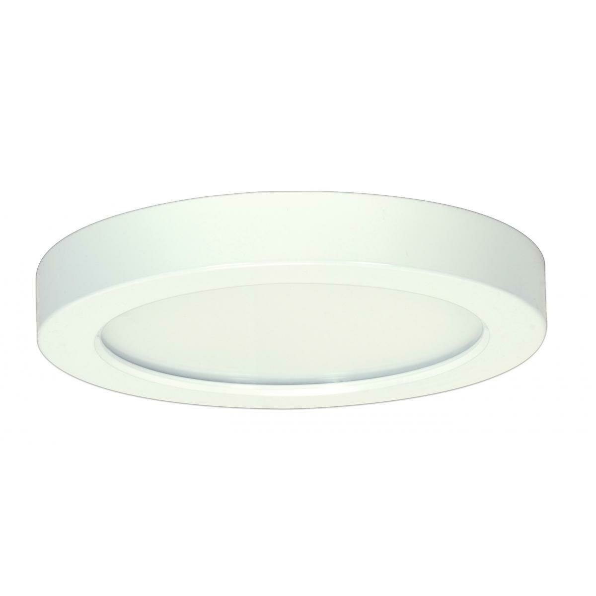 White Round LED Flush Mount