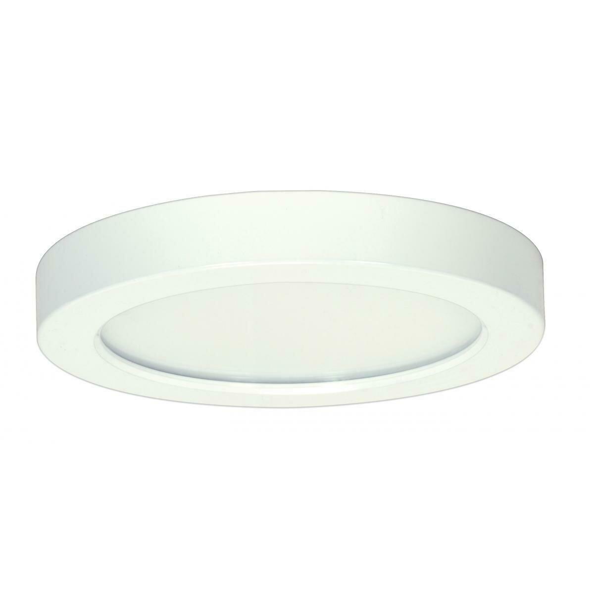 White Round LED Flushmount Fixture