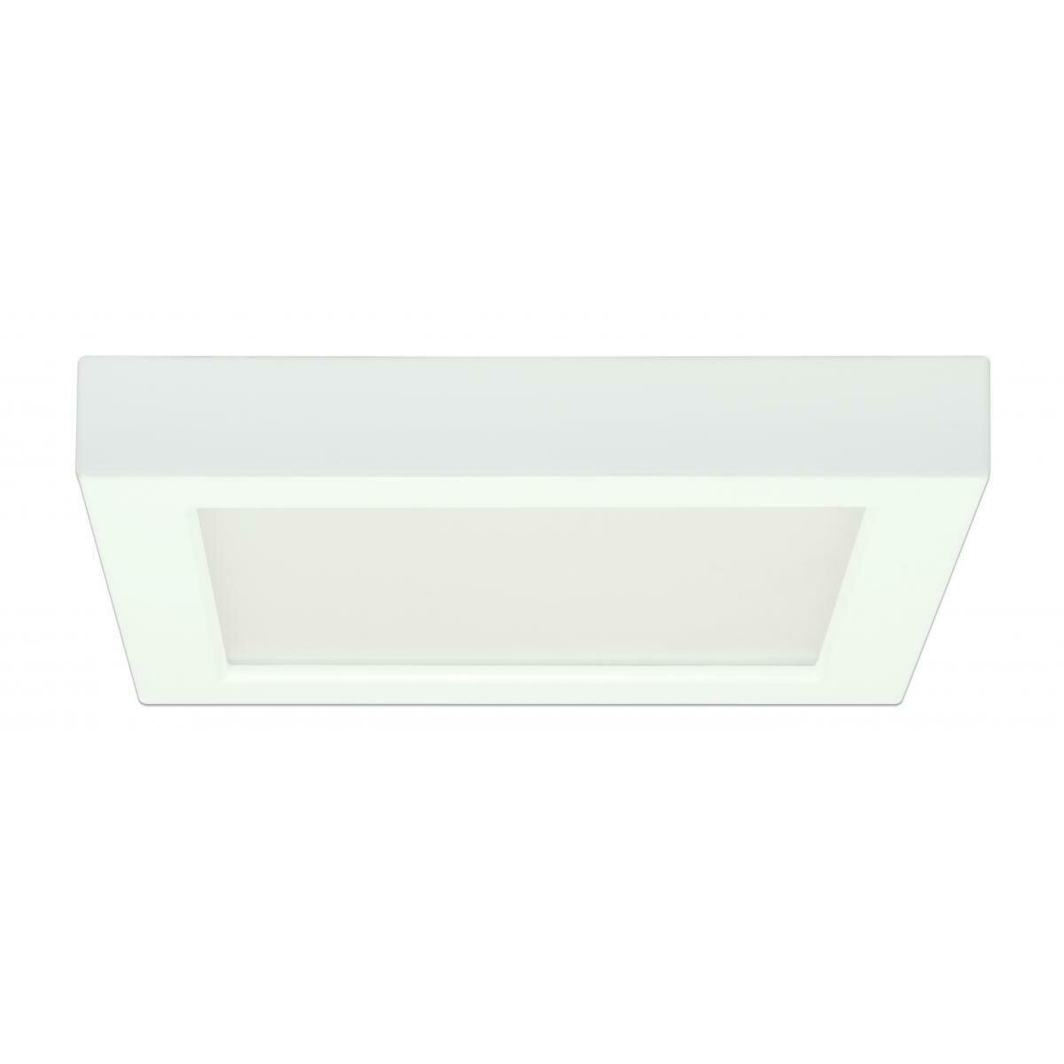 White Square LED Flush Mount