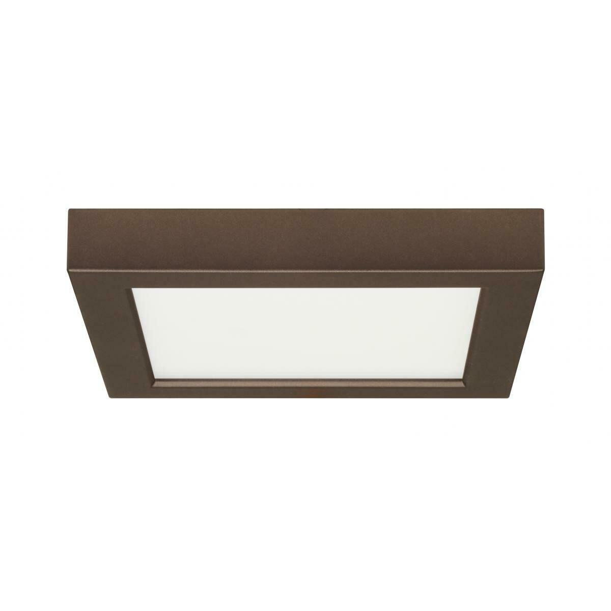 Bronze Square LED Flushmount Fixture