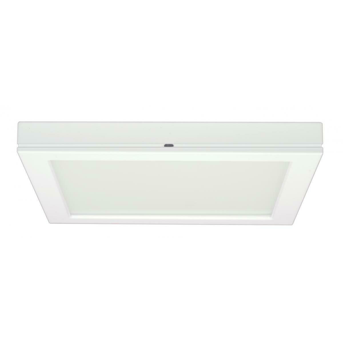 White Square LED Flushmount Fixture