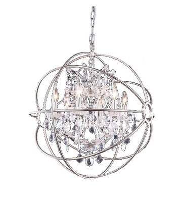 Urban Classic Polished Nickel 6 Lt Chandelier (DISPLAY ONLY)