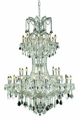 Maria Theresa Chrome 36 Lt Chandelier