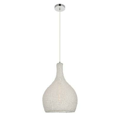 Finola Chrome/Clear 1 Lt Pendant