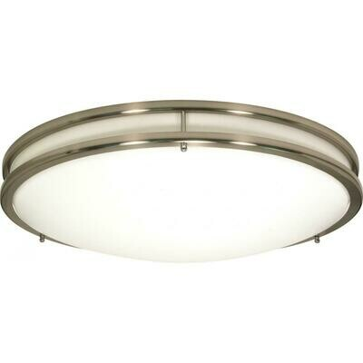Brushed Nickel 3 Lt Glamour Round 3-13W 2700K S Bulb