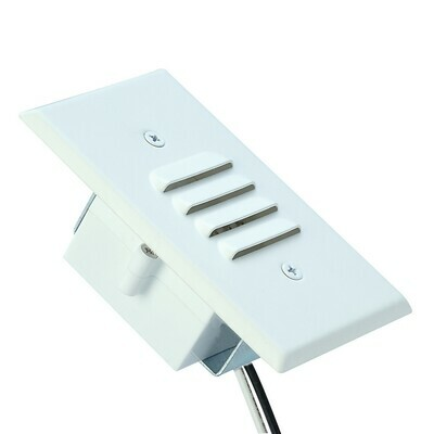 White Led Mini Step Light Louvered