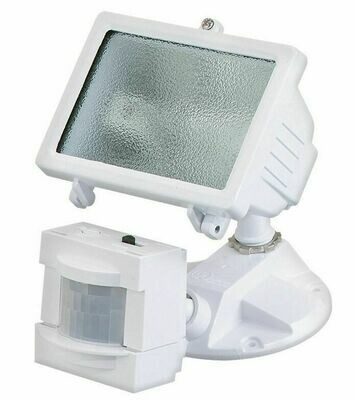 White 1 Lt 150W Halogen Square Motion Security Light (DISPLAY ONLY)