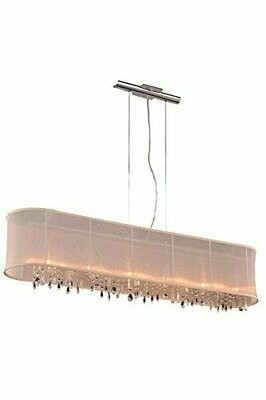 Harmony Chrome/Shade 5 Lt Chandelier (DISPLAY ONLY)
