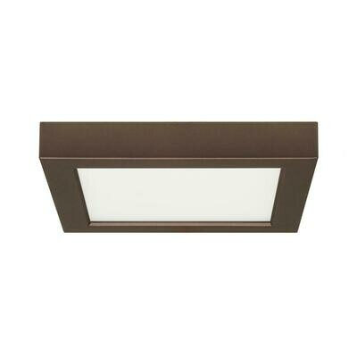 Bronze Square LED Flush Mount