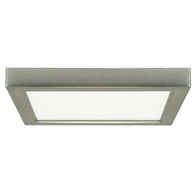 Brushed Nickel Square LED Flush Mount