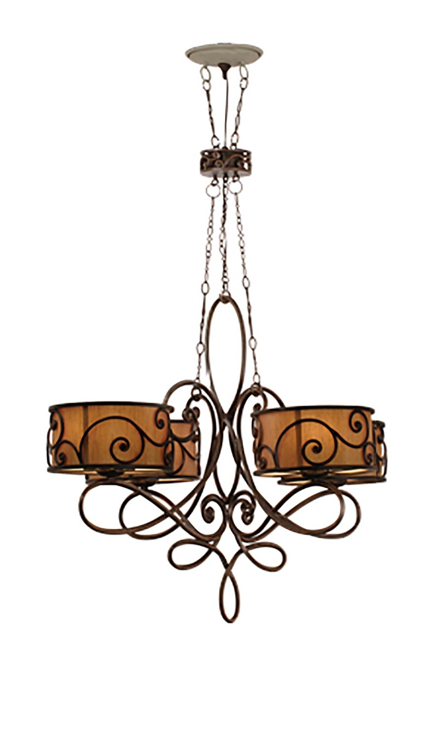 Windsor Antique Copper 20Lt Chandelier