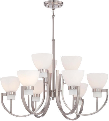 Hudson Bay Brushed Nickel 9 Lt Chandelier
