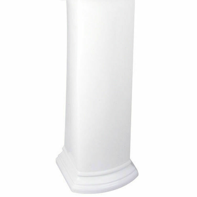 Barrett White Pedestal Base/Leg Only