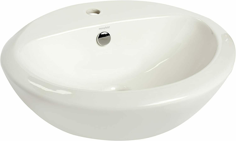 Enso White Above Counter Basin Single Hole