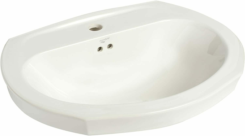 Montclair White Pedestal Lavatory Single Hole