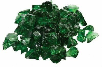 Dark Green Fire Glass - 10Lb Bag