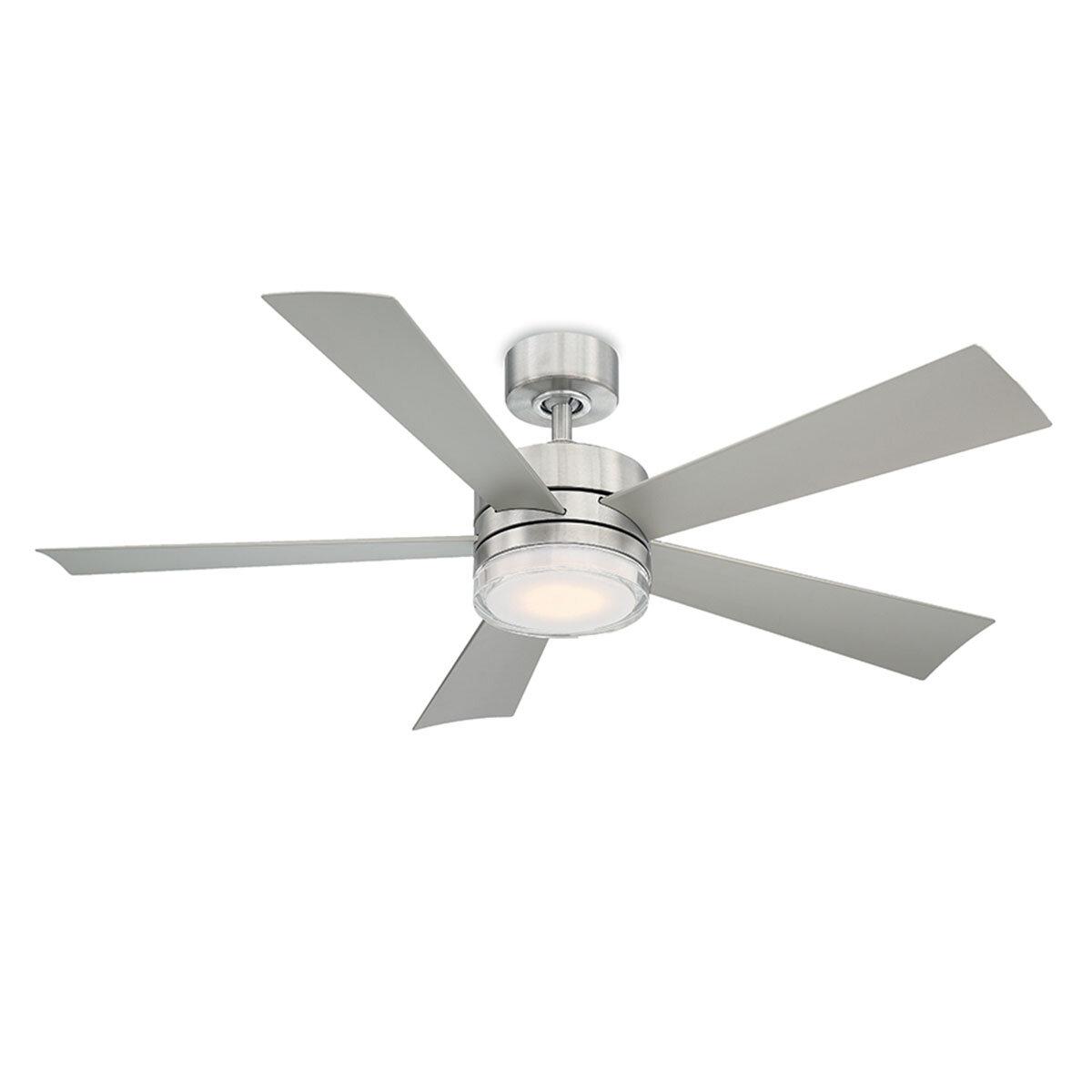 Wynd Stainless Steel Fan w/LED Light Kit