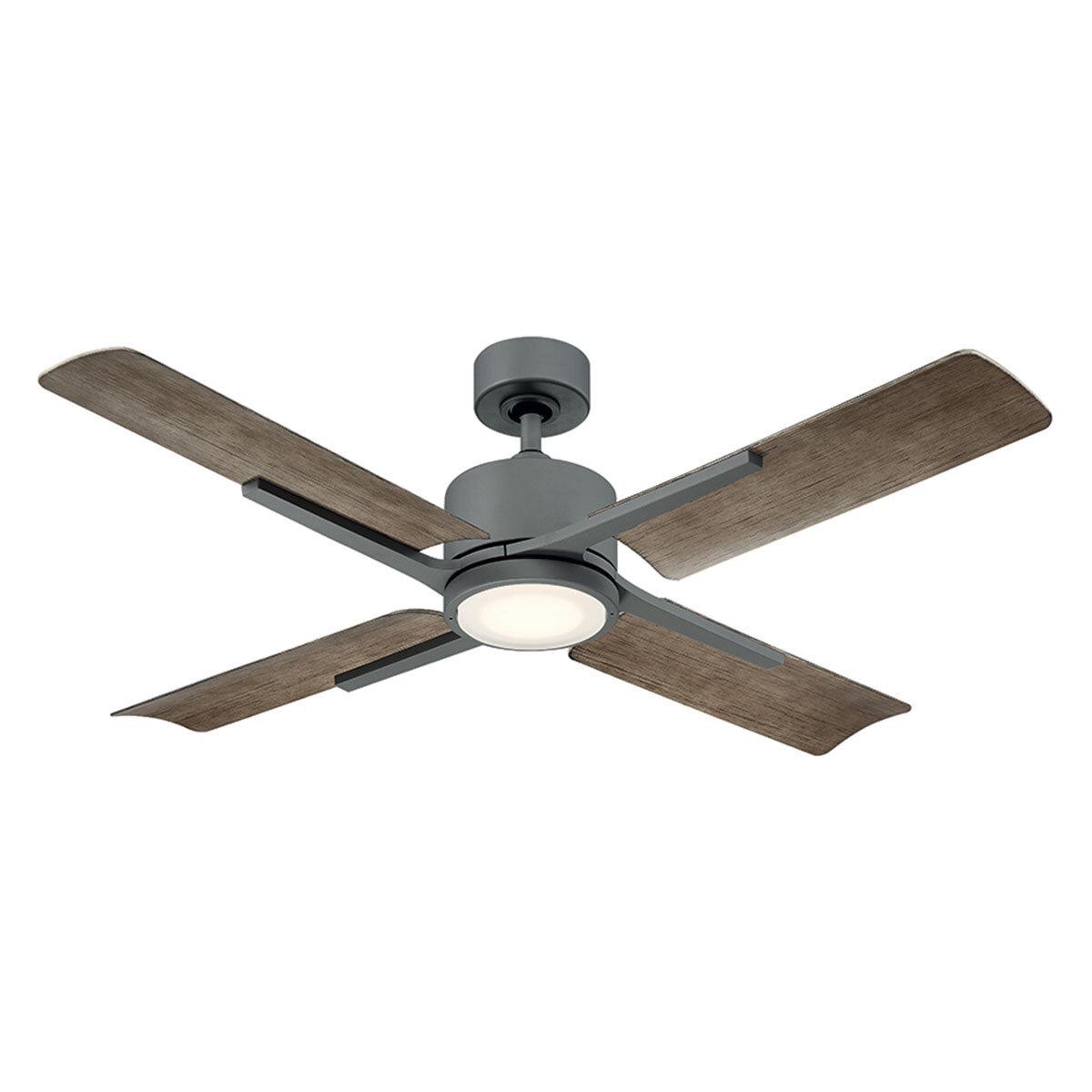 Cervantes Graphite Fan w/LED Light Kit
