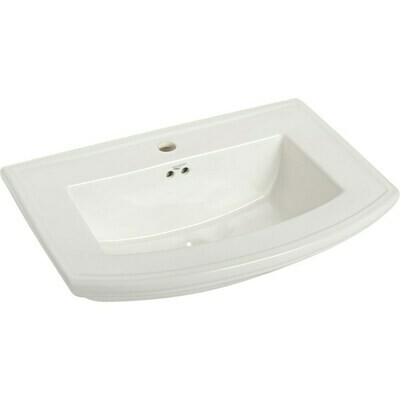 Barrett White Pedestal Basin Single Hole