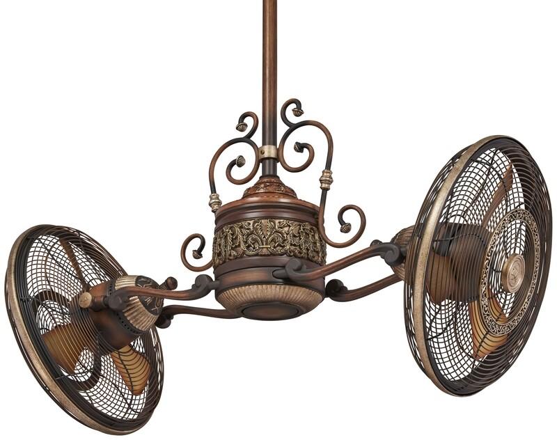 Belcaro Walnut Traditional Gyro Fan