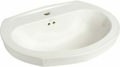 Montclair White Pedestal Lavatory Single Hole