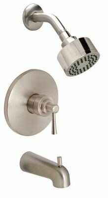 Carmel PVD Satin Nickel Tub & Shower Trim Kit