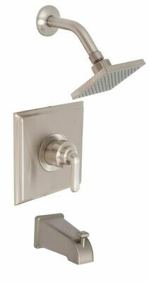 Merced PVD Satin Nickel Tub & Shower Trim Kit