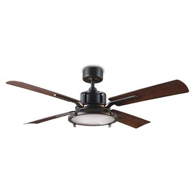 Nautilus Old Bronze/Dark Walnut Fan w/LED Light Kit