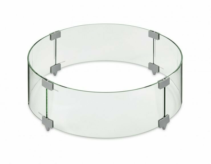 Round Tempered Glass Wind Guard