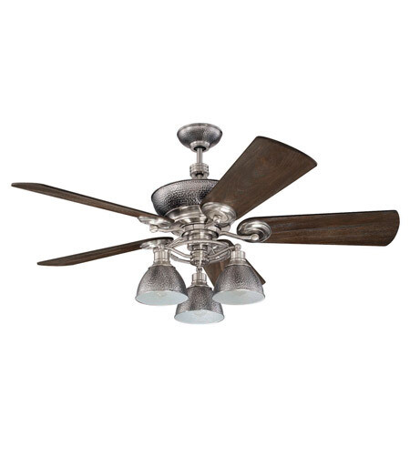 Timarron Brushed Polished Nickel Fan