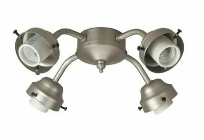 Brushed Nickel 4 Lt Fitter w/Limiter (DISPLAY ONLY)