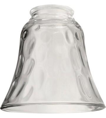 Hammered Clear Bell Shape Fan Glass