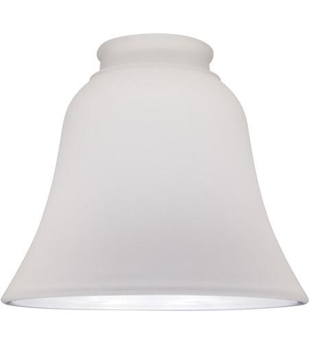 Ellington White Frost Bell Shape Fan Glass