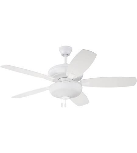 Forza White Ceiling Fan w/Light Kit