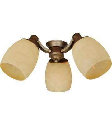 Dark Coffee/Vintage Madera 3 Lt LED Light Kit