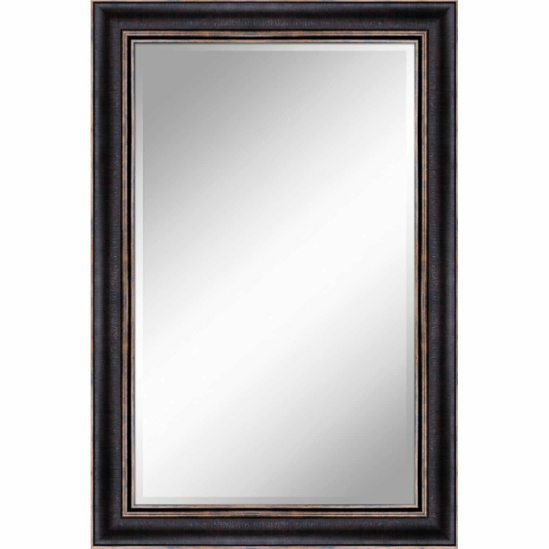 Bronze w/Gold Trim Mirror