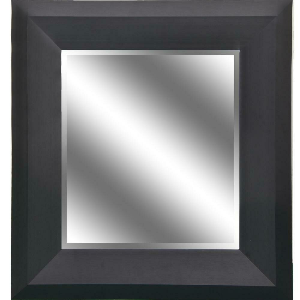 Black Wood Grain Mirror