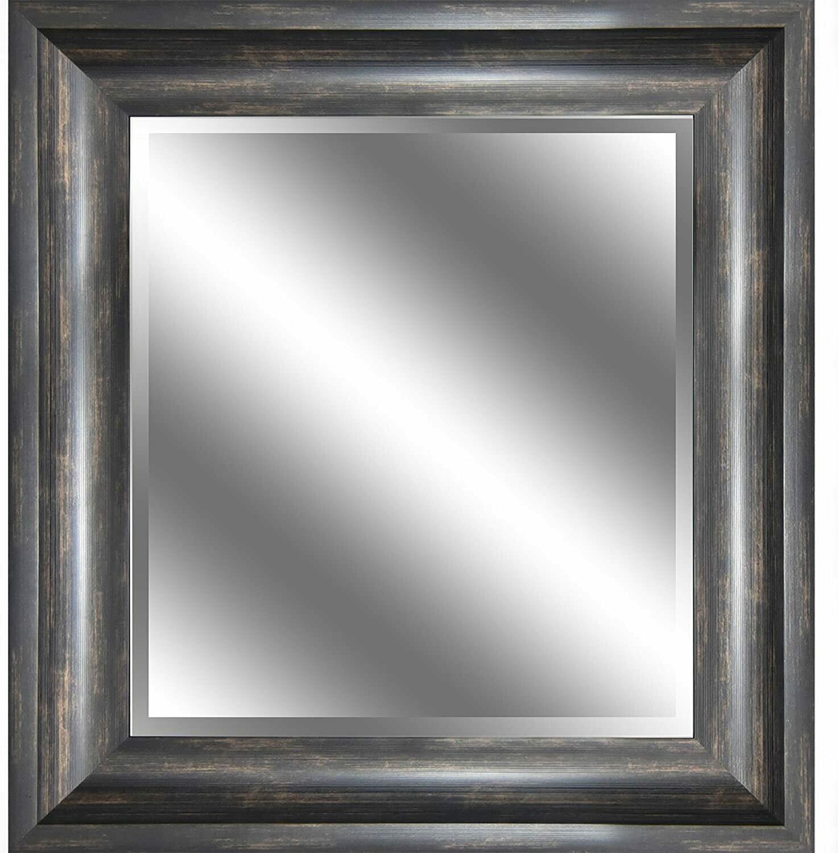 Ember Bronze Bevel Mirror w/Wood Grain (DISPLAY ONLY)