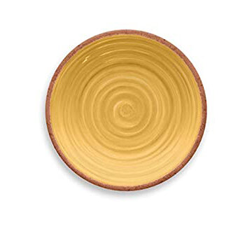 Rustic Swirl Salad Plate Yellow