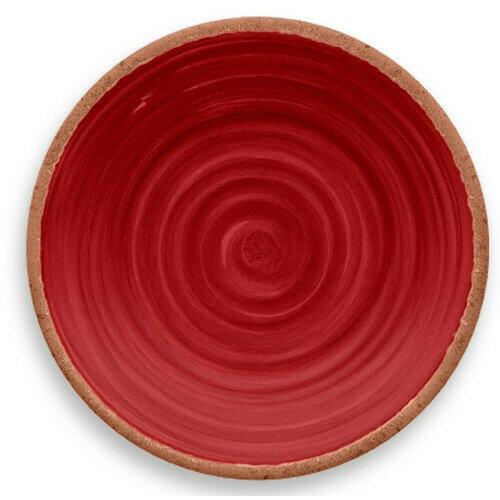 Rustic Swirl Dinner Plate Red