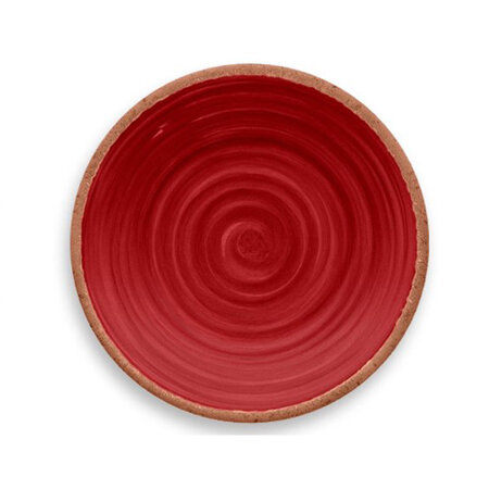 Rustic Swirl Salad Plate Red