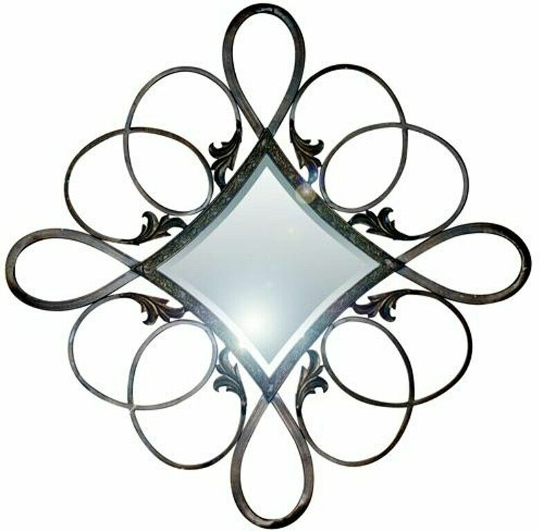 Copper Crystal Shaped Framed Mirror (DISPLAY ONLY)