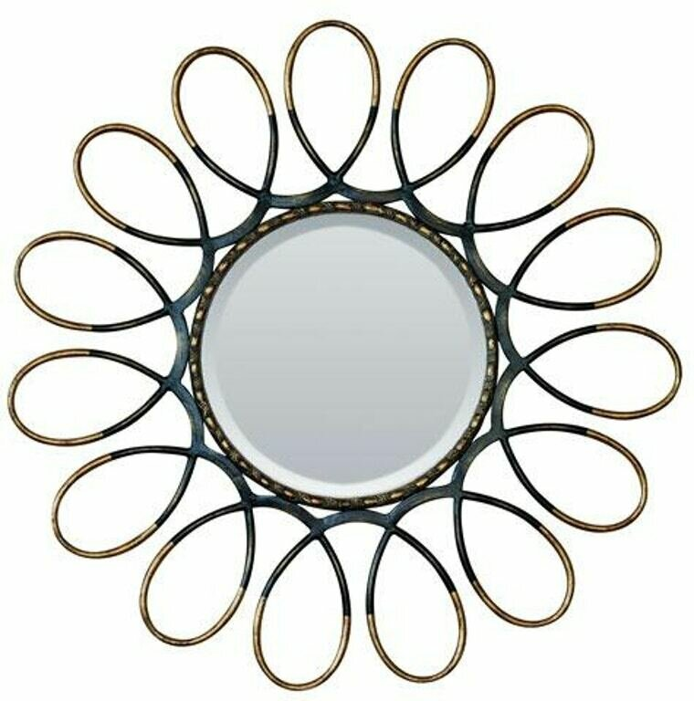 Round Outer-Looped Framed Mirror