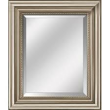 Warm Silver Framed Mirror