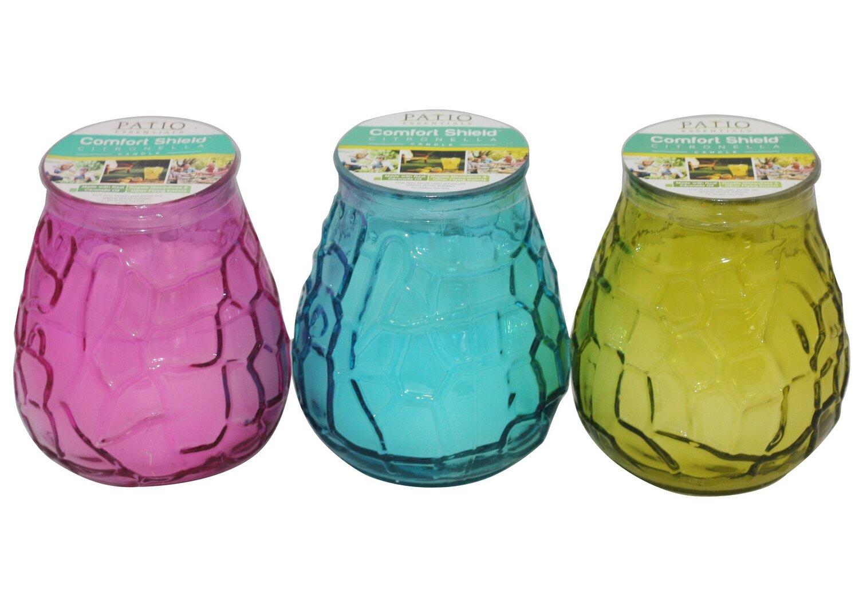 10.58 OZ Citronella Glass Retro Candle